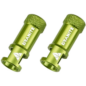 Granite CNC Valve Cap with Removing Function 2 Pieces green